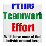Teamwork Pride Tile Coaster