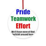 Teamwork Pride Ornament (Round)