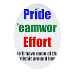 Teamwork Pride Ornament (Oval)
