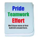 Teamwork Pride baby blanket