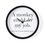 Monkey Job Wall Clock