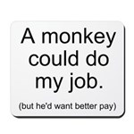 Monkey Job Mousepad
