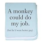 Monkey Job baby blanket
