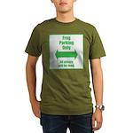 Frog Parking Organic Men's T-Shirt (dark)
