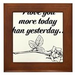 Love You More Framed Tile