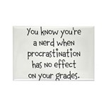 Procrastination Grade Rectangle Magnet (10 pack)