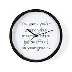 Procrastination Grade Wall Clock