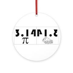 Pi Pie Ornament (Round)