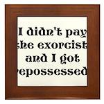 Exorcist Framed Tile