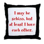 Schizo Throw Pillow