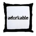 Adorkable Throw Pillow
