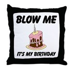 Birthday Blow Throw Pillow