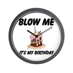 Birthday Blow Wall Clock