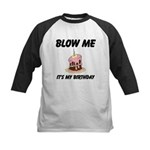 Birthday Blow Kids Baseball Jersey