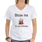 Birthday Blow Women's V-Neck T-Shirt