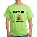 Birthday Blow Green T-Shirt