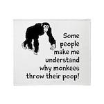 Monkey Poop Throw Blanket