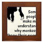 Monkey Poop Framed Tile