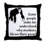 Monkey Poop Throw Pillow