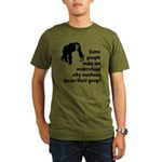 Monkey Poop Organic Men's T-Shirt (dark)