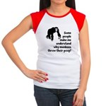 Monkey Poop Women's Cap Sleeve T-Shirt