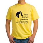 Monkey Poop Yellow T-Shirt