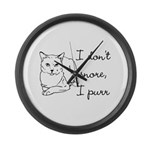 Cat Snore Large Wall Clock