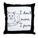 Cat Snore Throw Pillow