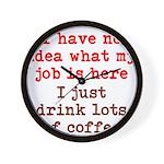 Coffee Job Wall Clock