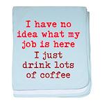 Coffee Job baby blanket