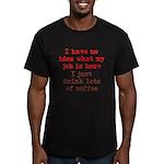 Coffee Job Men's Fitted T-Shirt (dark)