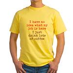 Coffee Job Yellow T-Shirt