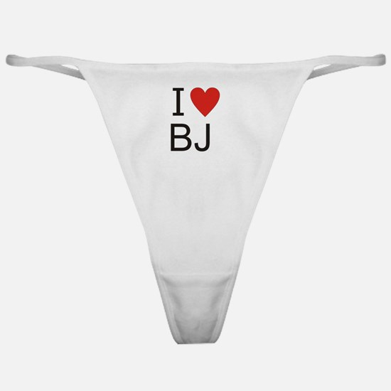 Cute I heart bj%27s Classic Thong