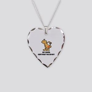 Hey Cancer -- Cancer Awareness Necklace Heart Char