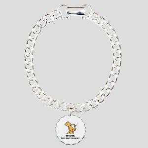 Hey Cancer -- Cancer Awareness Charm Bracelet, One