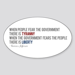 """Tyranny vs. Liberty"" Sticker (Oval)"