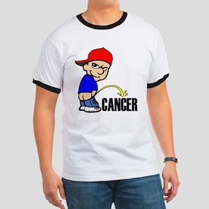 Piss On Cancer -- Cancer Awareness Ringer T