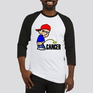 Piss On Cancer -- Cancer Awareness Baseball Jersey