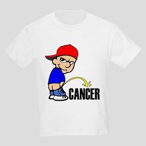 Piss On Cancer -- Cancer Awareness Kids Light T-Sh