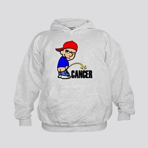 Piss On Cancer -- Cancer Awareness Kids Hoodie