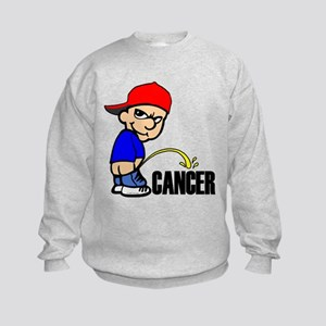Piss On Cancer -- Cancer Awareness Kids Sweatshirt