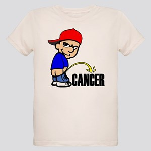 Piss On Cancer -- Cancer Awareness Organic Kids T-