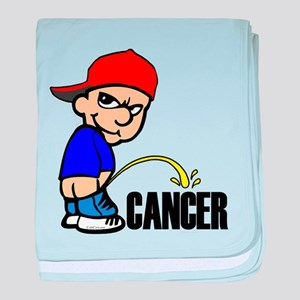 Piss On Cancer -- Cancer Awareness baby blanket
