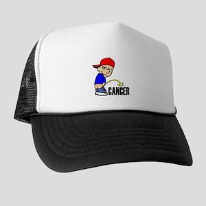 Piss On Cancer -- Cancer Awareness Trucker Hat
