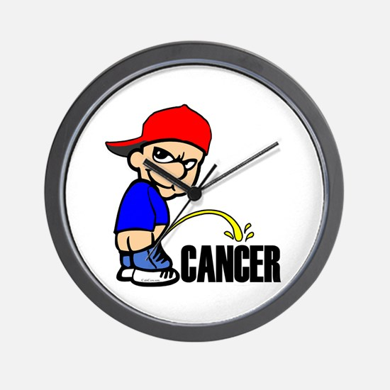 Piss On Cancer -- Cancer Awareness Wall Clock