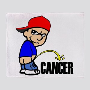 Piss On Cancer -- Cancer Awareness Throw Blanket