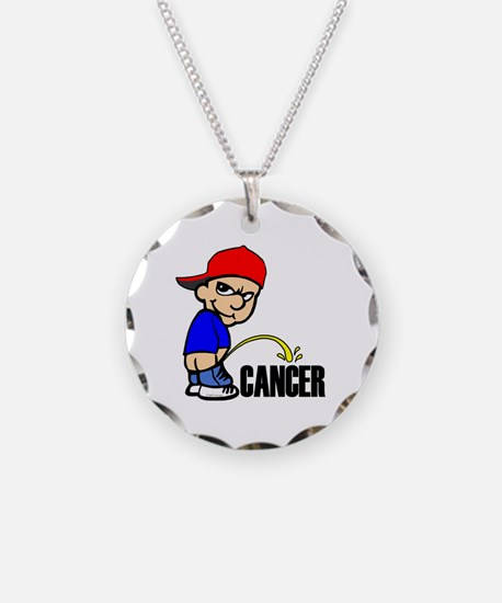 Piss On Cancer -- Cancer Awareness Necklace Circle