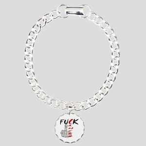 Fuck Cancer -- Cancer Awareness Charm Bracelet, On