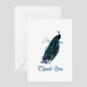 Peacock Thank You Greeting Card