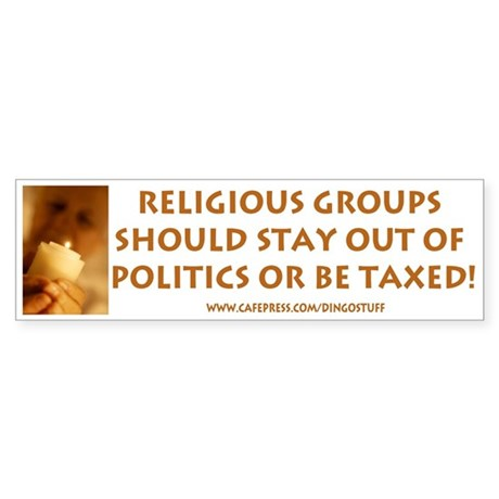"""Religious Groups"" Bumper Sticker"